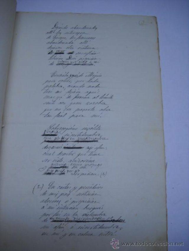 Poema Manuscrito José Zorrilla